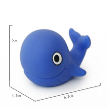 Eco-friendly whale shaped squirting PVC bath toy for kids new toy with OEM logo