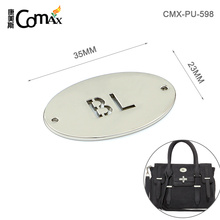 Oval Shape Custom Engraved Metal Jewelry Tags For Clothing