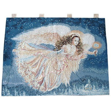Handmade tapestry wall hangings with LED light for sale