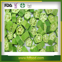 10MM Cube dehydrated Okra vegetables cutting freeze dried vegetable
