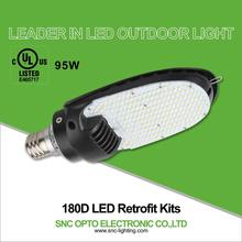 95W small sized led street light for enclosed fixtures with type 3 lens, DLC qualified led retrofit kits