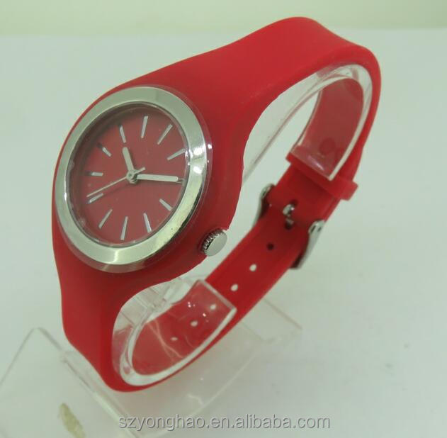 Free sample red silicone watch by DHL express delivery