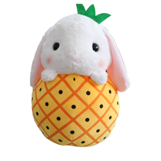 Customized Stuffed Plush Bunny <strong>Rabbit</strong> Pattern with Fruit Body