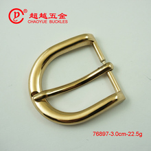 30mm factory directly Cheap custom round pin belt buckle for leather belt