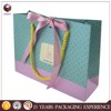 manufacture small four color dotted folding shopping paper bags
