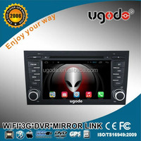 Android 7 inch 2 din car stereo dvd gps special for A4 with 3g wifi mirror link