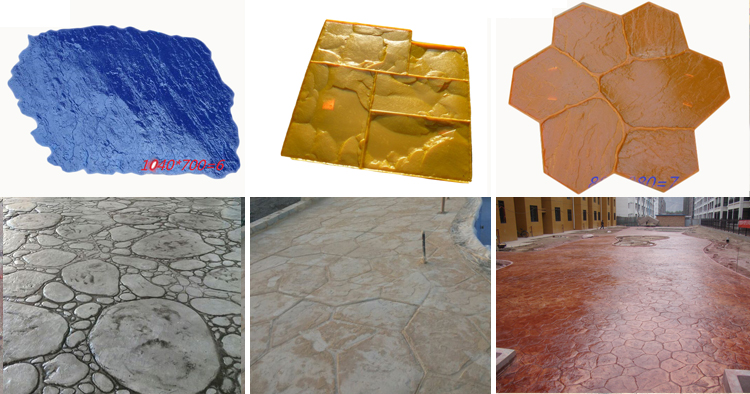 concrete silicone stamp walls stamped concrete flooring mats molds