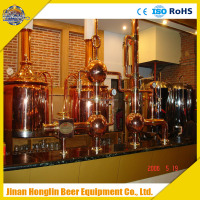 copper fresh beer making system,pub beer brewing equipment,luxuary beer equipment