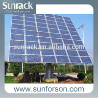Single pole solar panel mounting ground solar system