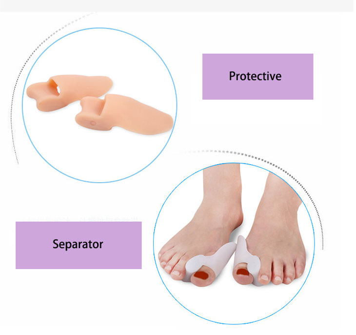 Toe stretchers orthotics soft gel Bunion Hallux Valgus straightener toe separator straighten toes