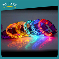 Toprank Walmart Supplier Wholesale Customized Flashing Puppy Collar Pets Dog Collar Led
