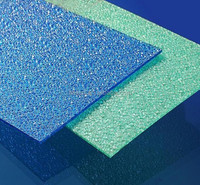 PC Diamond(Embossed) plate roof in different color 2mm-16mm. raw material form Germany. TIANSU provides