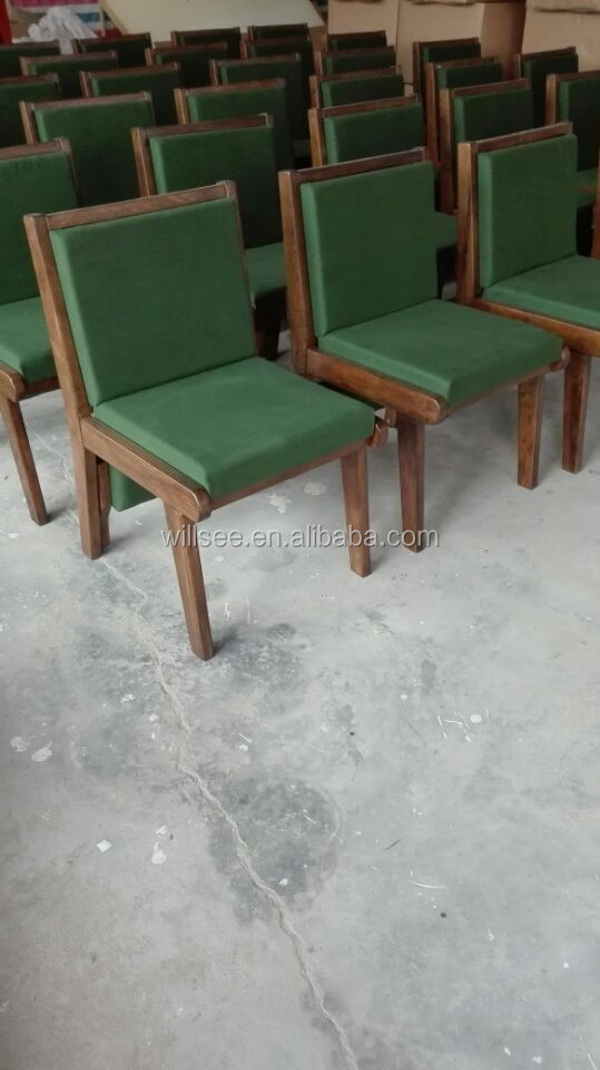 CH-C052,Solid Oak Wood Church Chair,Single and Stacking Oak Wood Church Chair