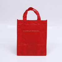 Wholesale plain customized size gift tote bag/non woven shopping bag