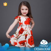 Wholesale 2016 children's boutique clothing summer frock designs pictures flower casual brand name girls dresses of party