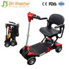 25kg four wheels lighti folding electric tricycle mobility scooter with remote key