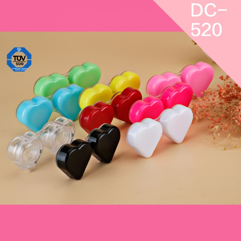 Hot Seller New Simple Model Fashion Accessories Contact Lens Dual Case Solution Holder Glasses Double Boxes