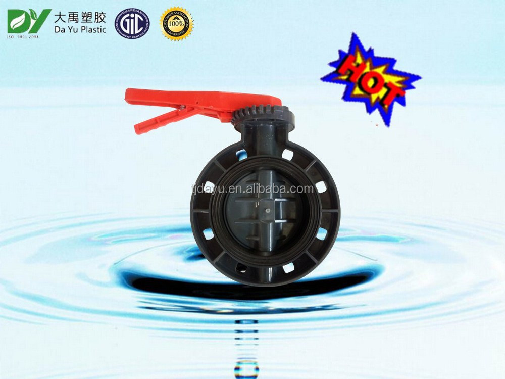 """ATA""Da Yu Valves beautiful wafer butterfly handle valve for water supply"