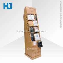 Big capacity cardboard pocket display with compartments for clothes