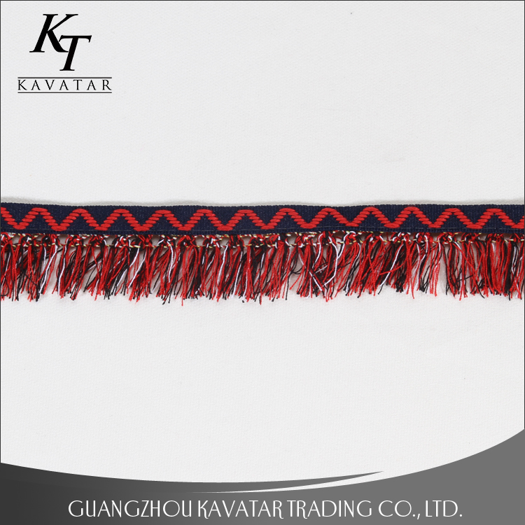 Wholesale garment home textile accessory customized tassel trim fringe