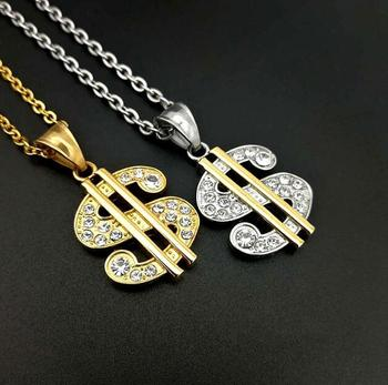 1 dollar necklace wholesale fashion dollar chain necklace hippie necklace jewelry