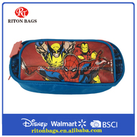 Superhero Design High Quality Pencil Case With Two Compartments