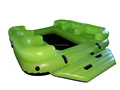 Durable PVC inflatable fun island floating for 6 person
