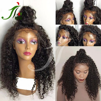 Free Shipping Factory Price 100% Brazilian Virgin Remy Human Hair Free Style Updo High Ponytail Full Lace Wig