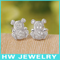 40622 micro pave 925 sterling silver earrings