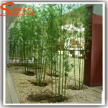 Guangzhou supplier wholesale artificial plastic bamboo poles cheap lucky bamboo tree leaves branch plants indoor decoration