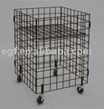 Folding Dump Bin with Casters / Wire Display Bin