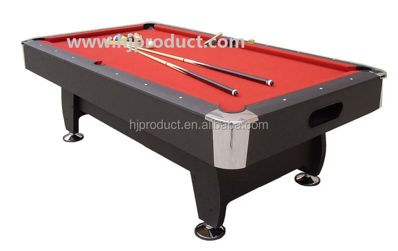 Deluxe billiard pool table 8ft size with red felt buy - 8 foot pool table dimensions ...
