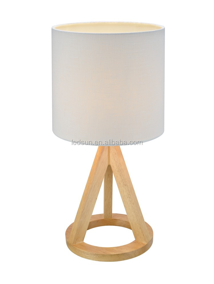 simple style bedroom natural wood base furniture tripod table lamp buy bedroom table lamp. Black Bedroom Furniture Sets. Home Design Ideas