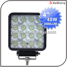 Warranty 2 year 12-24V vehicle commercial flood spot beam electric off road 48w worklight led work lamp light