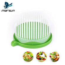 Best multi-function durable 60 Seconds Easy Fruit Vegetable Cutter Bowl Fast Fresh Salad Slicer Salad Chopper salad cutter bowl