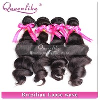 Natural color & wave dyeable brazilian virgin loose wave youth hair products