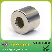 Round Neodymium Magnets with screw holes rare earth neodymium magnets