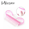 nail beauty tools/nail brush with plastic handle wholesale