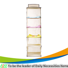 Popular hanging non woven fabric bathroom organizer storage the wall closet organizer for bag