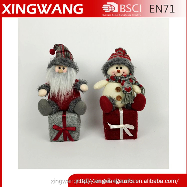 10 inch 2016 christmas new wholesale santa decoration