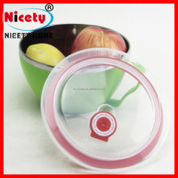 PET Plastic Type and Bowl Type food safe clear stainless steel boxes with plastic airtight lid