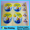 2015 Professional custom printed full color vinyl pp sticker label on key