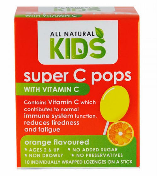 All Natural Kids Sunshine D pops with Vitamin C Herbal Childrens health orange flavour
