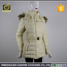 Close-fitting loose beam waist white cheap outdoor winter coat