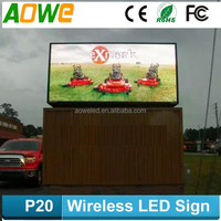 P20 outdoor led display screen, DIP346 outdoor big advertising led billboard, large led screen sign