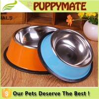 Beautiful colors high quality stainless steel pet product--pet bowl