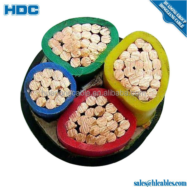 Low voltage 4 cores 3*185mm+1*90mm XLPE insulated and sheathed armored power cable