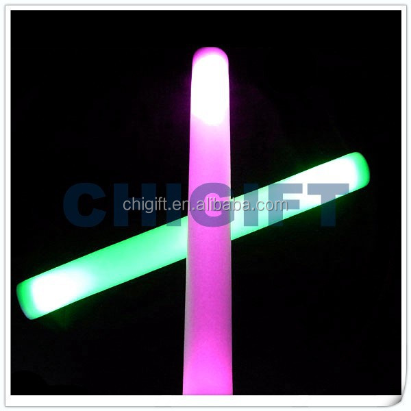 CPSIA,RoHS,CE Approved Multi-color Flashing Soft Foam Ping Stick