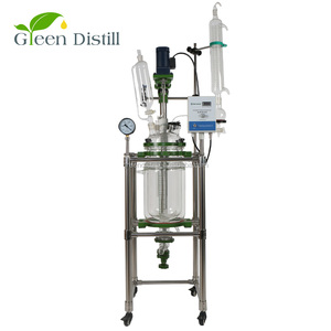 Laboratory vacuum chemical stirrer glass reactor