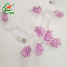 LED Fairy Decoration Unicorn Light <strong>Mobile</strong> USB Charging Cable